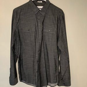 Men's Calvin Klein button up long sleeve shirt